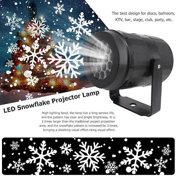 Christmas Snowflake LED Projector Lights Festival Holiday Home Party Decor Night Lamp Snow Projector Light Christmas Decoration