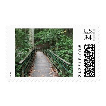 Walkway in Park Photo Postage