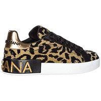 Dolce & Gabbana Women's Shoes Trainers Sneakers Gold