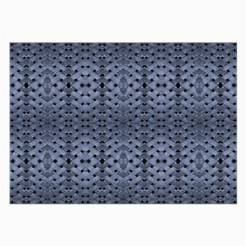 Futuristic Geometric Pattern Design Print in Blue Tones Glasses Cloth (Large)