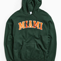 Champion University Of Miami Eco Fleece Hoodie Sweatshirt | Urban Outfitters