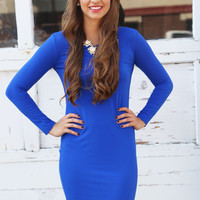 Bodycon Piko Dress {Royal}