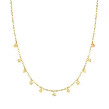 Amanda Rose Fancy Choker Necklace in 14k Yellow Gold (16 inch)