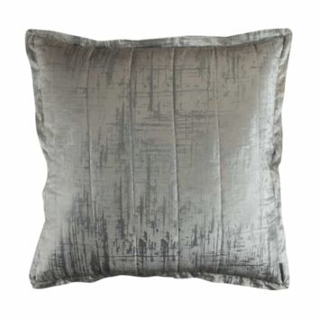 Moderne Ivory and Silver Euro Pillow by Lili Alessandra