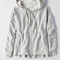 AEO Soft & Sexy Terry Hoodie, Heather Gray