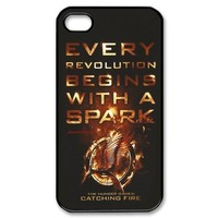 The Hunger Games iPhone 4 4S Hard Case Cover - Every Revolution Beging With a Spark
