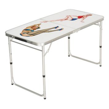Designer Pin-Up Ping Pong Table - Game Room