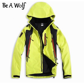 Be A Wolf Hiking Softshell Jackets Men Outdoor Sport Fishing Clothes Camping Skiing Rain Windbreaker Waterproof Winter Jacket