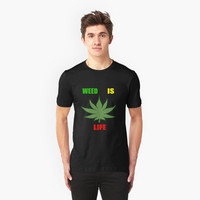 Weed Is Life - Marijuana - Mary Jane - (Designs4You) - Stoner by Skandar223
