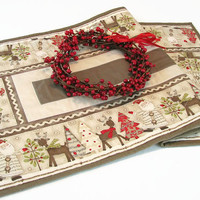 Christmas Table Runner, Santa Claus Table Runner
