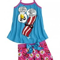 Bacon And Eggs 2pc Pajama Set | Camp Collection | Hot Shops | Shop Justice