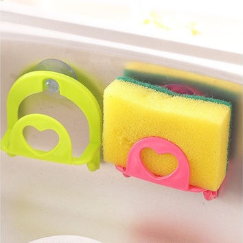 Kitchen Tools Multifunction Supporter Suck on the Wall Double Pothook Commodity Shelf For Bathroom [8045586247]