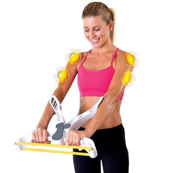 Arm Blaster Wonder Strength Arm Training Device White Muscle Trainer Arm Strength Training Device Hand Gripper Fitness Tool