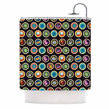 "Stephanie Vaeth ""Toys, Games & Candy"" Multicolor Pattern Shower Curtain"
