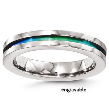 4mm Edward Mirell Titanium Rainbow Anodized Band