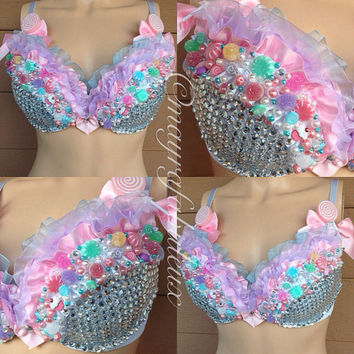 Candy Land Rave Bra - Mayrafabuleux Original Design