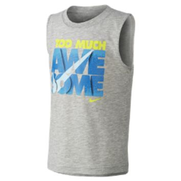 """Nike """"Too Much Awesome"""" Preschool Boys' Muscle T-Shirt"""