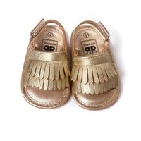 2016 New Summer Style Baby baby girl shoes,Tassels baby shoes branded,Soft Bottom Girls Toddler Shoes Baby Summer Sandals