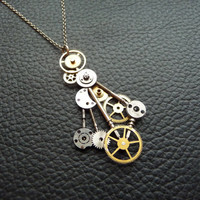 Clockwork Pendant Chaos Device Recycled by amechanicalmind on Etsy