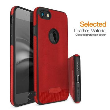 Shockproof Rubber Soft PU Leather Silicone Back Case Cover For iPhone X / 8 / 8 Plus / 7 / 7 Plus / 6 / 6 Plus / 6s / 6s Plus / Samsung Galaxy S9 / S9 Plus / Note 8 / S8 / S8 Plus / S7 / S7 Edge