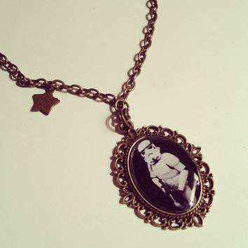 Star Wars Stormtrooper Cameo Necklace  by RabbitJewellery on Etsy