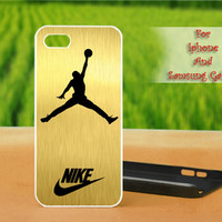 Nike Jordan Gold - Print on hard plastic case for iPhone case, Samsung Galaxy case and iPod case. Select an option