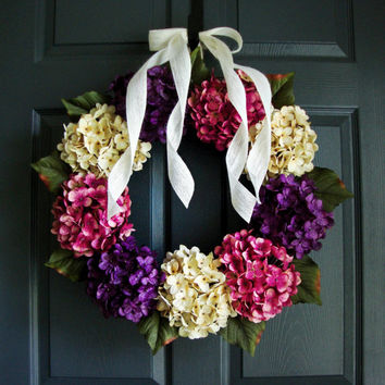 Door Wreaths for Year Round  - Hydrangea Wreath - Wedding Wreath - Front Door Wreaths - Etsy Wreaths
