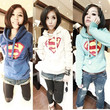 Womens Cute Superman Logo Pattern Hoodie Casual Pullovers Coat Pocket Patchwork Loose Comfy Sweatshirts Tops Outwear = 1931686596