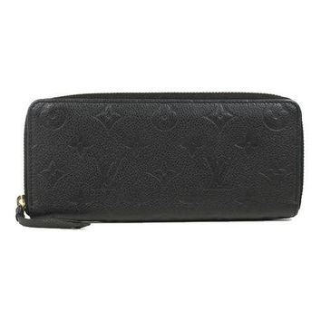 LOUIS VUITTON Monogram Unplant Clemence M60171 Noir(Black) Women long wallet