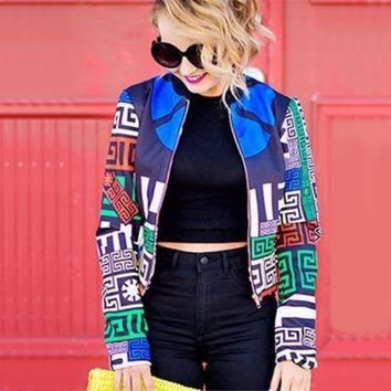 Printed Bomber Jacket For Womens