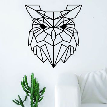 Geometric Owl Animal Design Decal Sticker Wall Vinyl Decor Art Living Room Bedroom Abstract Cool Teen Bird
