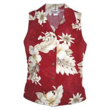 Chili Red Hawaiian Women's Sleeveless Shirt