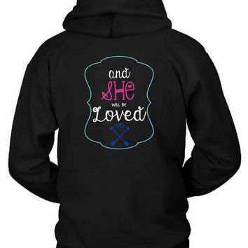 ESBH9S Maroon 5 Adam Levine Quote And She Will Be Loved Hoodie Two Sided