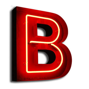 sale vintage marquee lights neon letter b orange