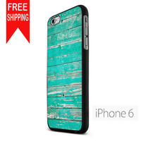 Teal Wood US iPhone 6 Case