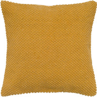 "Handloom Weave with Dot Mustard Pillow Cover (20"" x 20"")"