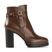 Tod's strap buckle ankle boots