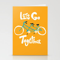 Life's more fun when we're together Stationery Cards by Melissa Kramer | Society6