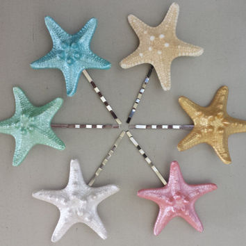 Starfish Hair Clip (3), Beach Hair Accessories, Beach Hair Clip, Beach Wedding Hair, Starfish Hair Accessories, Mermaid Hair Clip