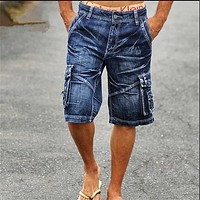 Cargo Men's Denim Shorts