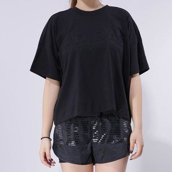 ESBONN Adidas Woman Training Series Round neck Short sleeves Shirt Top Tee | Love Q333