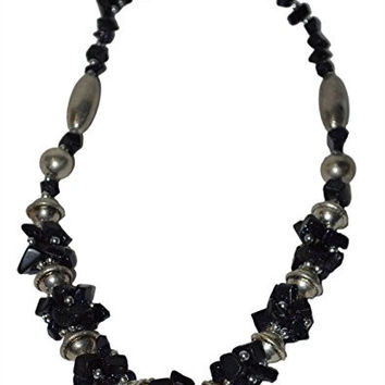 Morocan Jewerly Berber Necklace Arabic Black Stones