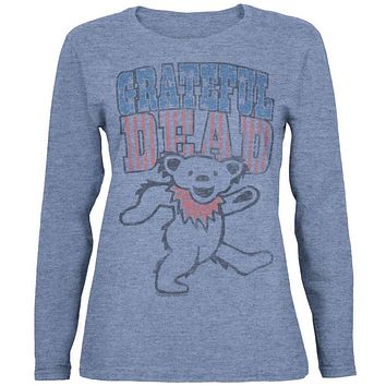 Grateful Dead - Dancing Bear Juniors Long Sleeve T-Shirt