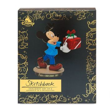 Disney Mickey Pluto's Christmas Tree Memories Sketchbook Ornament Limited New