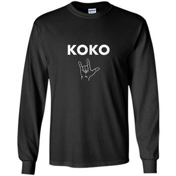 Koko I Love You- Gorilla Sign Language Tribute T-Shirt LS Ultra Cotton Tshirt