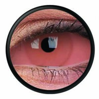 ColourVue Pink Scleral Full Eye Coloured Contacts (Caliban)