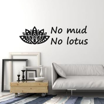 Vinyl Wall Decal Lotus Quote Yoga Center Meditation Inspire Saying Decor Stickers Mural (ig5605)