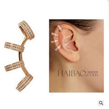 The ear clip _ aliexpress selling exquisite diamond ear clip C shaped ear ring without no pierced ears pierced ears [10392933140]