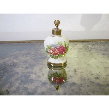 Atomizer Porcelain Perfume Bottle With Roses