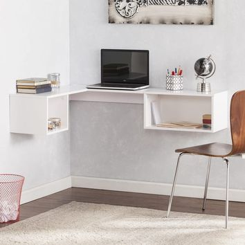 Harper Blvd Freda Wall Mount Corner Desk - White | Overstock.com Shopping - The Best Deals on Desks